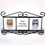 Family Crests Coat of Arms Wall Rack PERSONALISED, ref FCWR
